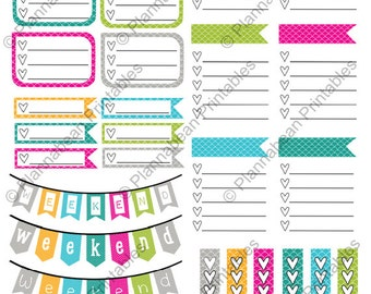 Brights Planner Printable - For Personal Use Only