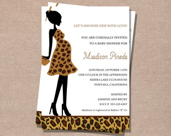 Baby Shower Invitation - Baby Shower - Leopard Baby Shower Invitation - Printable Baby Shower Invite - Digital Baby Shower Invitation
