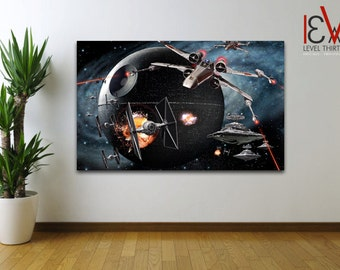 STAR WARS - Death Star Battle Wall Art Large Canvas Picture 104 *Various Sizes*
