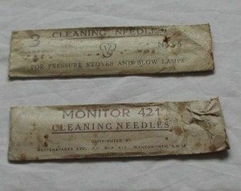 Vintage Cleaning Needles in Original Paper Packaging