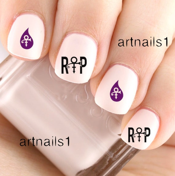 Prince RIP Music Nail Art Nails Polish Girlfriend By Artnails1
