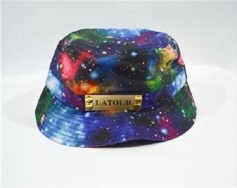 Galaxy Bucket Cap in Blue