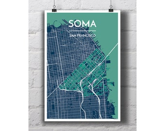 SOMA - San Francisco City Map Print