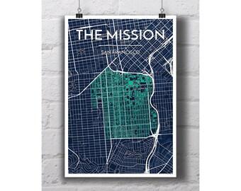 The Mission - San Francisco City Map Print