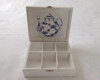 "Wooden tea box ""Tea Time"""
