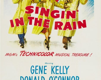 Singing in the Rain Vintage A1 Poster