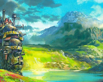 Howl's Moving Castle Studio Ghibli Large A1 Canvas
