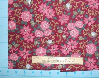 Country Fantasies Victoriana Christmas Cotton Fabric Fat Quarter 18 X 22