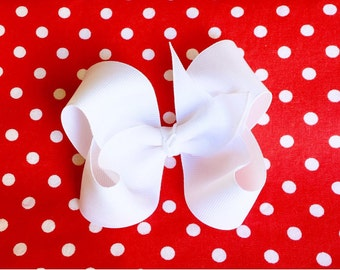 """BOWS!!!  35 colors to choose from!  Twisted Boutique Bow with dovetail edge (7/8"""" or 1.5"""" grosgrain ribbon)"""