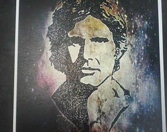 A4 Hans Solo Harrison Ford Zentangle Colour Art Quote Print