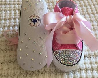 Baby Rhinestone Converse Shoes