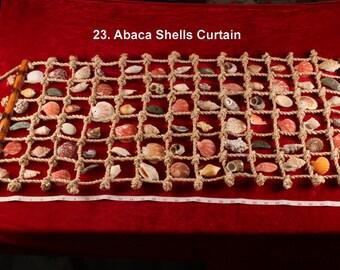 Abaca shells Curtain