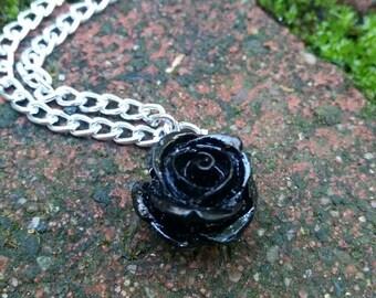 Black Rose Fairy Tale Necklace