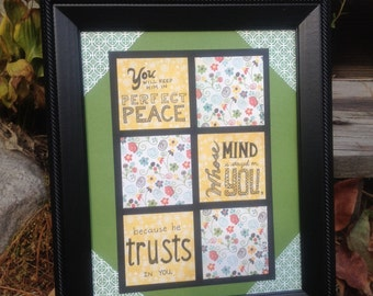 Perfect Peace Scripture Wall Hanging - Isaiah 26:3