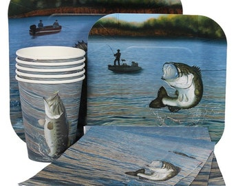 Bass Fishing Party Kit for 8