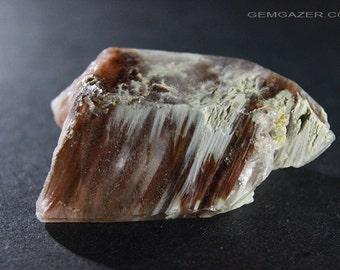 Quartz crystal with Amphibole inclusions, Brazil.  129.33 carats.