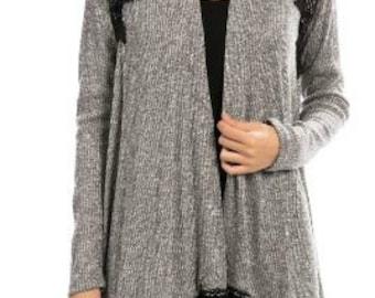 SALE Crochet Detailed Cardigan