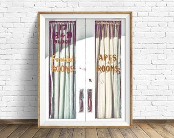 "farmhouse wall art, large art, instant download printable art, digital download, industrial, modern, contemporary, prints -""Furnished Rooms"""