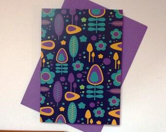 Meadow Blue greeting card