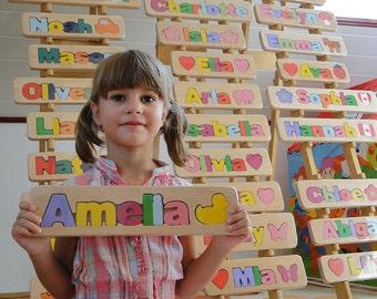 WOODEN PUZZLE NAME - Amellia