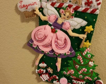 Sugar Plum Fairy Felt Stocking