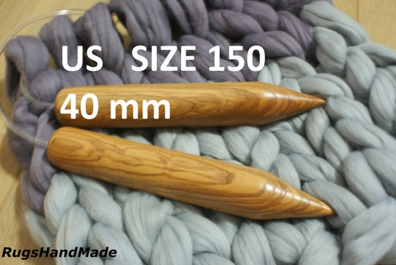 Knitting Needles Mm To Us Size : Giant mm wooden needles circular knitting by