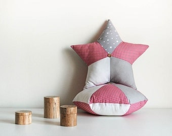 Lot of Star pillow + Hexagonal - star cushions