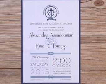 nautical invitation, nautical invitations, nautical wedding invitations, nautical wedding invitations, destination invitations, travel card