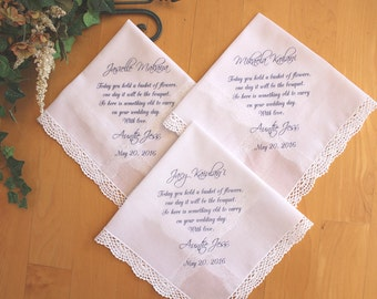 Flower Girl Wedding hankerchiefs-(3)-Flower Girl-PRINT-CUSTOMIZE-Hankerchief-Wedding Hankies-Wedding favor-Bride Gift to Flower Girl-LS5FCA