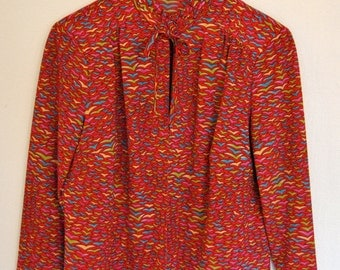 Colorful Pattern Blouse Jacket