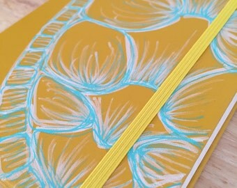 """Hand Painted Journal """"Refuge"""" (Turtle Shell)"""