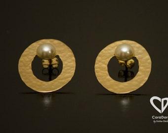 24K Gold Plated Oval Earrings