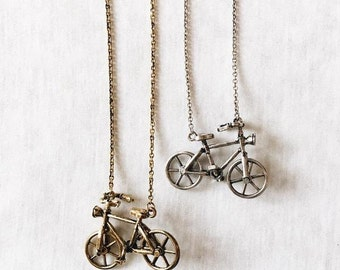 Retro Bike Necklace