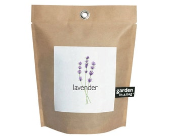 Lavender Garden-in-a-Bag – Full Grow Kit – Hostess Gift – Wedding – Baby Shower – Bridal Shower – Apartment- Dorm Room – Small Spaces – Mom