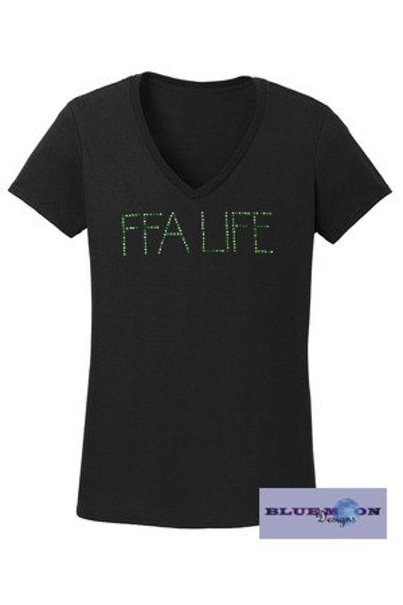 FFA Life Rhinestone T-Shirt Made to order