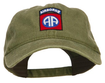 82nd Airborne Embroidered Washed Cap