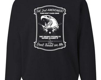 The 2nd Amendment Crewneck Sweatshirt Guns Don't Cause Crime Sweatshirt 100481-CS