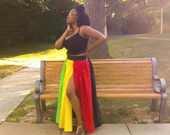 Rasta-Goddess Maxi Skirt