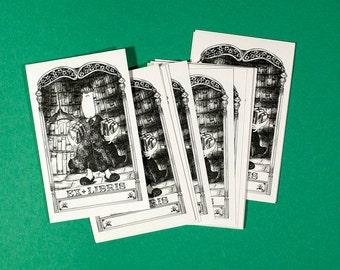 "Ex sticker Libris, Bookplate self-adhesive, ""The delivery man"""