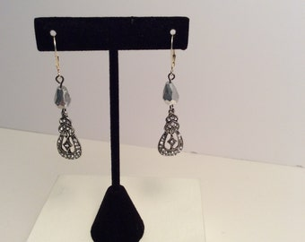 Vintage Inspired Czech Crystal Earrings