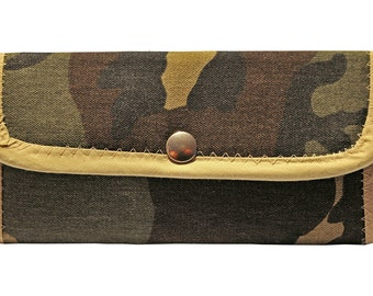 Wallet made from recycled materials.