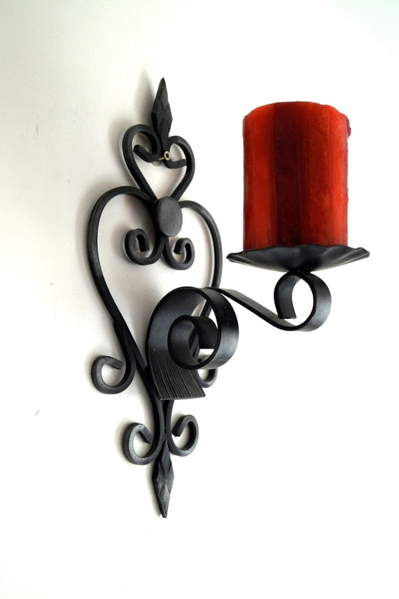 applique murale fer forge noir. Black Bedroom Furniture Sets. Home Design Ideas