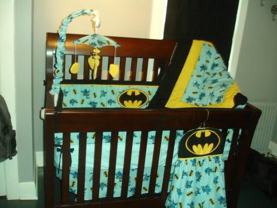 10pc Batman Crib Set by CustomCribs