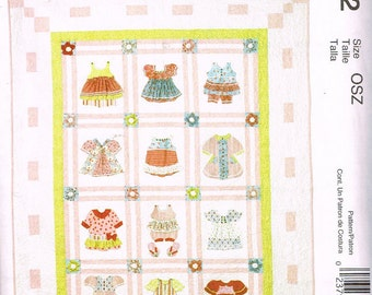 McCall's M6412, Sewing Pattern, McCall's Crafts, Quilt by Pearl Louise Designs, OSZ