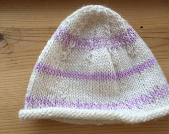 Hand Knitted Infant Cap
