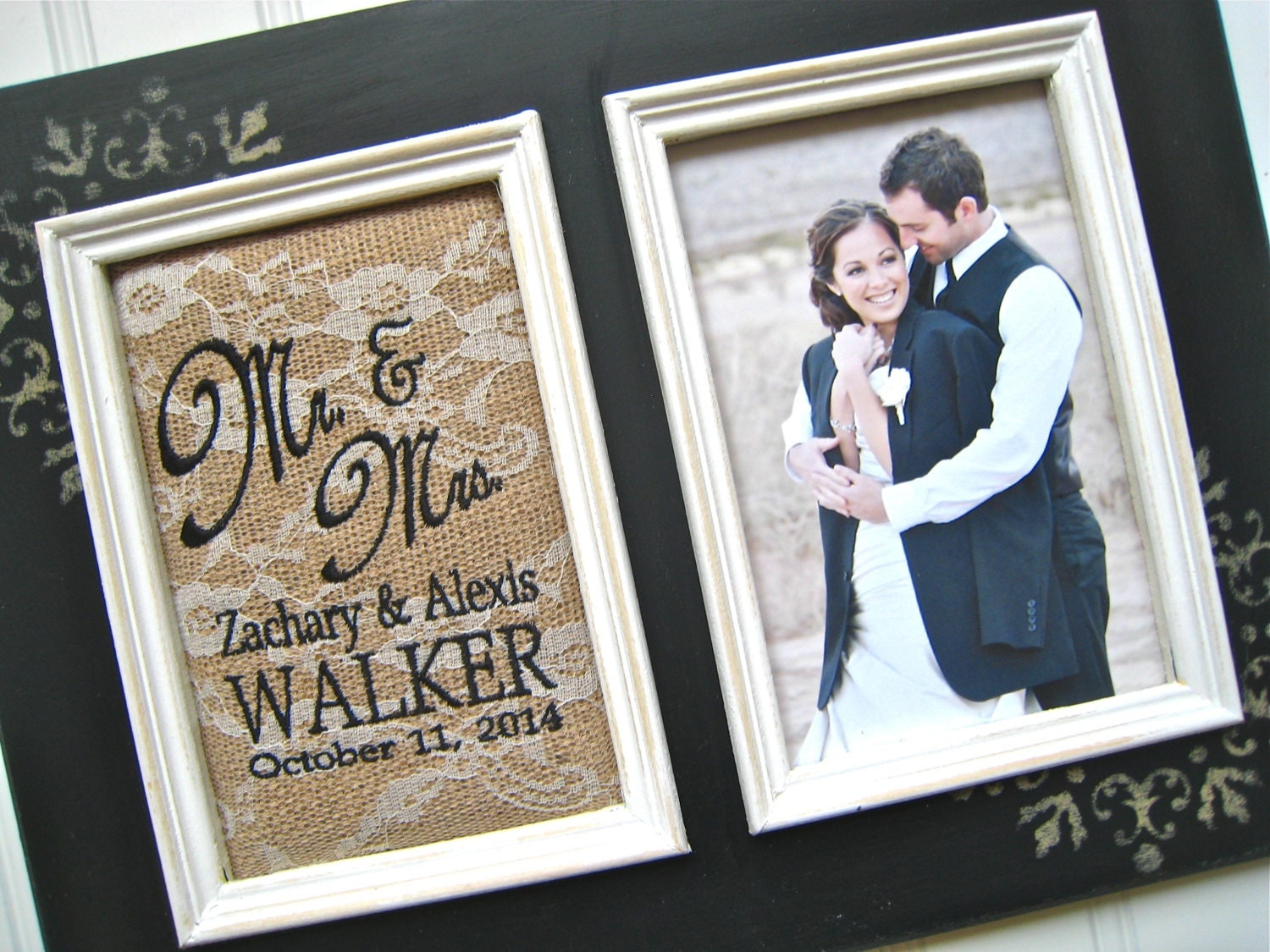 Wedding Gift Personalised: Personalized Wedding Gift Mr And Mrs Photo Frame Custom