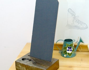 Rustic Chalkboard (small square) with Stand/Holder, Rustic Fence Post Chalkboard (B4)