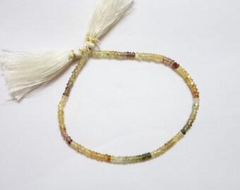 Natural Multi Zircon Faceted Rondelles (AAA Grade)  ,  Zircon Rondelle Beads