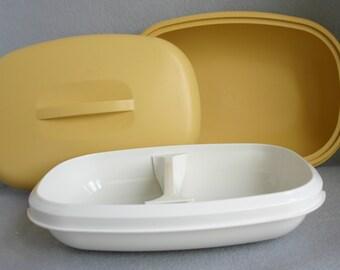 Vintage Gold Tupperware Vegetable Steamer