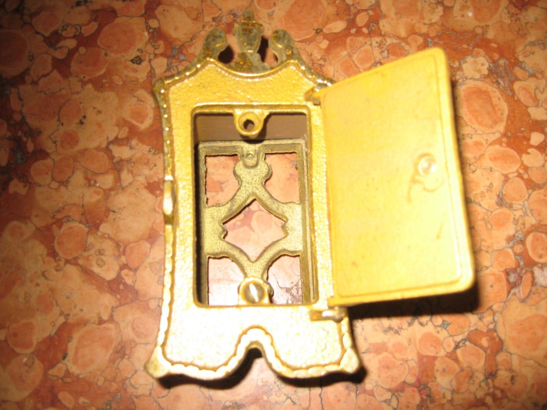 1800 39 s antique brass peep hole door knocker bv - Door knocker with peep hole ...